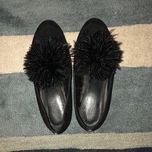 MICHAEL Michael Kors Feather Pom Pom Slip Ons